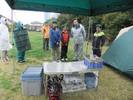 17雨の時のキャンプでの注意点について隊長のご指導DSCF9539s