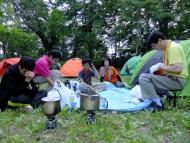 12見晴キャンプ場で夕食DSCF9829s