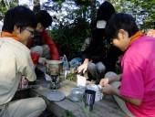 21尾瀬沼キャンプ場で朝食DSCF9883s