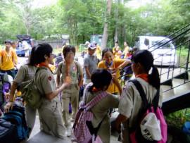 35世界ジャンボリー台湾派遣隊が山中に到着①DSCF1513