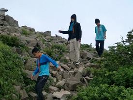 05c磐梯山山頂岩がごろごろ4CIMG0729